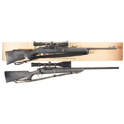 Two Remington Rifles -A) Remington Model 7400 Synthetic Semi-Automatic Rifle with Box