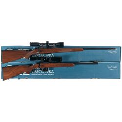 Two Boxed CZ Bolt Action Rifles -A) CZ Model 550 American Bolt Action Rifle with Scope