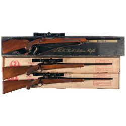 Three Boxed Bolt Action Rifles -A) Browning BBR Bolt Action Rifle