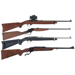 Four Rifles -A) Ruger Model 10/22 Semi Automatic Rifle with Scope