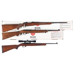Three Ruger Long Guns -A) Ruger Model 77 Hawkeye Bolt Action Rifle with Box