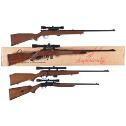 Four Sporting Rifles -A) Harrington & Richardson Model 700 Semi-Automatic Rifle with Scope