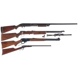 Four Long Guns -A) Remington Model 17 Slide-Action Shotgun
