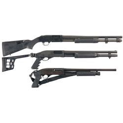 Three Slide Action Shotguns -A) Mossberg 590 Slide Action Shotgun