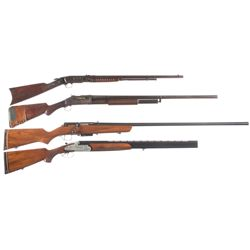 Four Long Guns -A) Remington Model 12C Slide Action Rifle
