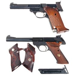 Two High Standard Semi-Automatic Target Pistols -A) High Standard Model 103 Supermatic Tournament Se