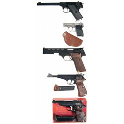 Five Semi-Automatic Pistols -A) High Standard Model HB Semi-Automatic Pistol