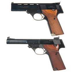 Two High Standard Semi-Automatic Pistols -A) High Standard The Victor Semi-Automatic Pistol