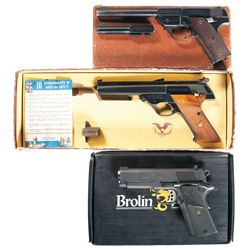 Three Boxed Semi-Automatic Pistols -A) High Standard Model GB Semi-Automatic Pistol
