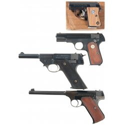 Four Semi-Automatic Pistols -A) Colt Junior Pocket Model Semi-Automatic Pistol with Box