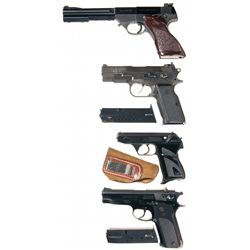 Four Semi-Automatic Pistols -A) High Standard Olympic Semi-Automatic Pistol in 22 Short