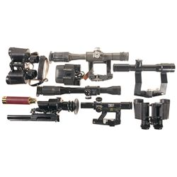 Collection of Scopes and Binoculars
