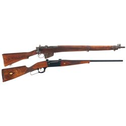 Two Long Guns -A) U.S. Savage-Stevens Enfield No. 4 MKI* Bolt Action Rifle
