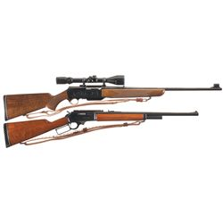 Two Rifles -A) Browning BAR Grade II Semi-Automatic Rifle with Scope