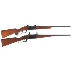 Two Savage Model 99 Lever Action Rifles -A) Savage Model 99-C Lever Action Magazine Rifle