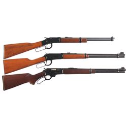 Three Lever Action Carbines -A) Ithaca Model 49 Lever Action Carbine