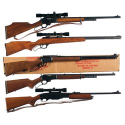 Five Sporting Rifles -A) Marlin Model 444 Lever Action Rifle with Scope and Sling