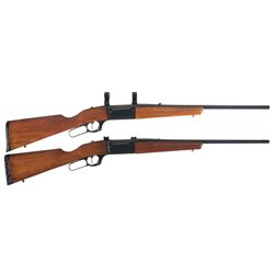 "Two Savage Model 99 Rifles -A) Savage A Series Model 99-A Lever Action ""Brush Gun"" Rifle"