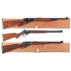 Three Marlin Lever Action Long Guns -A) Marlin Model 444S Lever Action Rifle with Box