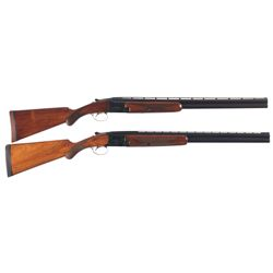 Two Belgian Browning Superposed Shotguns -A) Belgian Browning Grade I Superposed Shotgun
