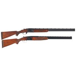 Two Over/Under Shotguns -A) Engraved Marlin Model 90 Over/Under Shotgun