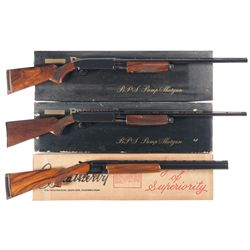 Three Boxed Shotguns -A) Browning BPS Slide Action Shotgun