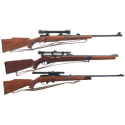 Three Scoped Bolt Action Sporting Rifles -A) Winchester Model 70 Bolt Action Rifle