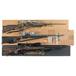 Three Scoped and Boxed Bolt Action Rifles -A) Remington Model 700 LSS Bolt Action Rifle
