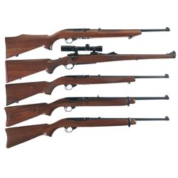 Five Ruger Long Guns -A) First Year Production Ruger 10/22 Sporter Semi-Automatic Carbine