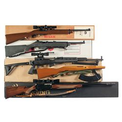 Four Boxed Long Guns -A) Ruger Model 44 Semi-Automatic Carbine with Scope