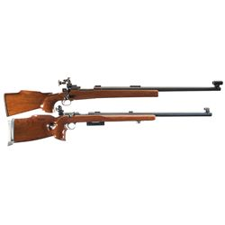 Two Bolt Action Rifles -A) Custom Winchester Model 70 Bolt Action Rifle