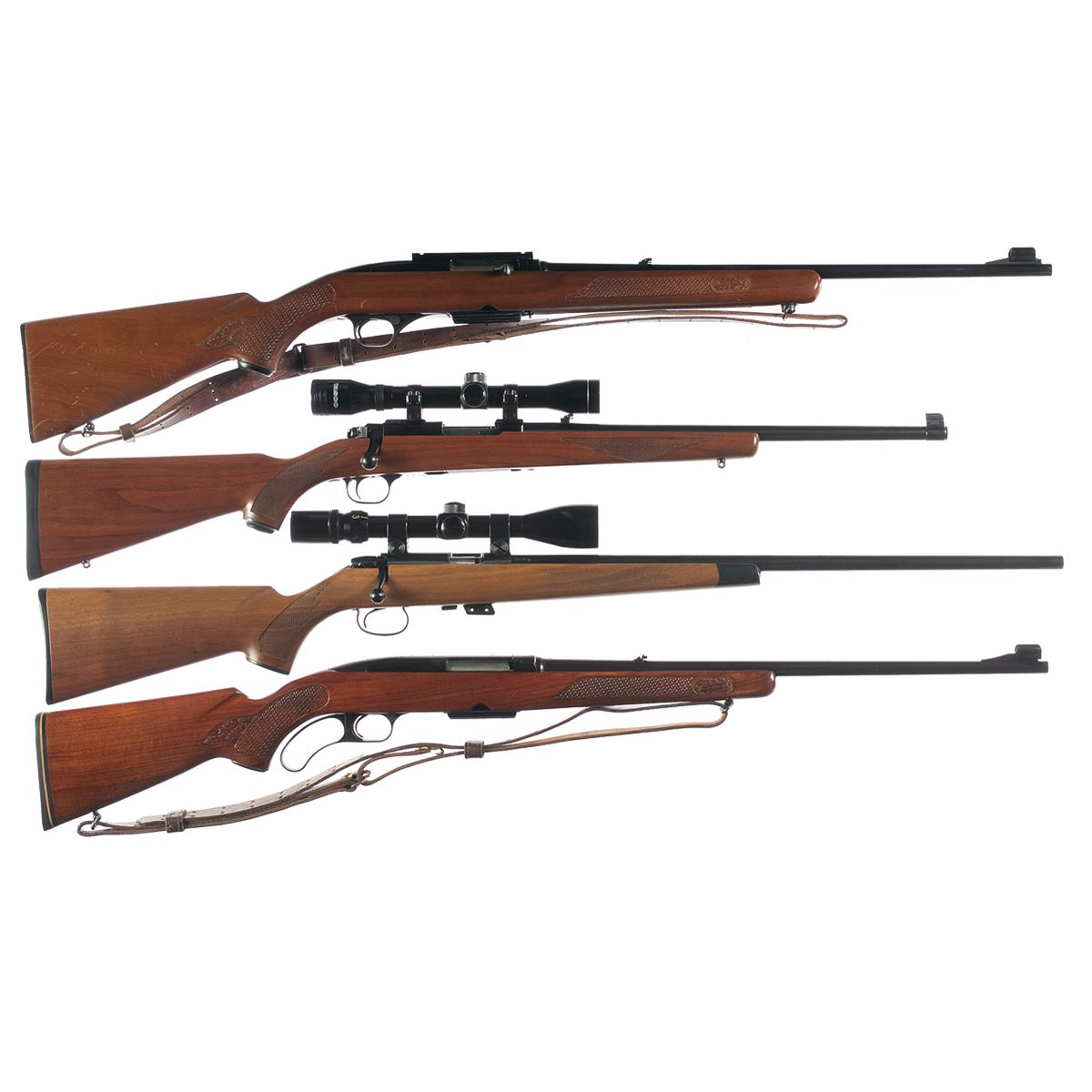 four sporting rifles a winchester model 100 semi automatic rifle