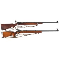Two Winchester Model 52 Target Rifles -A) Early Winchester Model 52 Bolt Action Target Rifle with Sl