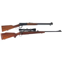 Two Winchester Rifles -A) Winchester Model 94 Lever Action Carbine