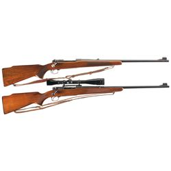 Two Winchester Model 70 Bolt Action Rifles -A) Pre-64 Winchester Model 70 Bolt Action Rifle with Sli