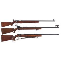 Three 22 Bolt Action Target Rifles -A) Martially Inspected Remington 513-T Matchmaster Bolt Action R