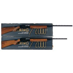 Two Browning 2000 Semi-Automatic Shotguns -A) Browning Model 2000 Semi-Automatic Shotgun with Box