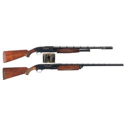 Two Slide Action Shotguns - A) Winchester Model 12 Skeet Grade Slide Action Shotgun with POWer-PAC