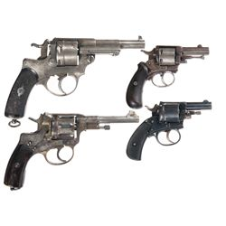 Four Antique Double Action Revolvers -A) Dickinson English Bulldog Double Action Revolver