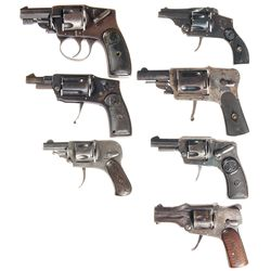 Seven Hammerless Double Action Revolvers -A) Illinois Arms Company Hammerless Double Action Revolver