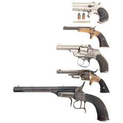 Five Antique Handguns -A) Remington Type II Double Derringer