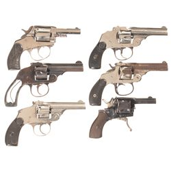 Six Double Action Revolvers -A) American BullDog Marked Double Action Revolver