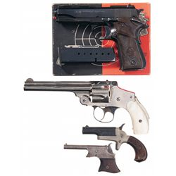 Two Derringers One Revolver and One Pistol -A) Llama 380 Caliber Especial Semi-Automatic Pistol with
