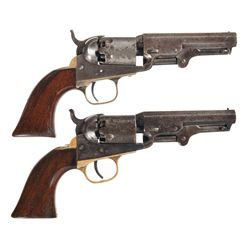 Two Colt 1849 Pocket Single Action Revolvers -A) Colt 1849 Pocket Revolver