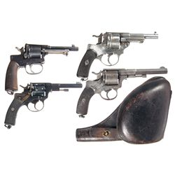 Four European Double Action Revolvers -A) Leopold Gasser Model 1898 Double Action Revolver