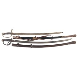 Model 1840 Cavalry Saber and Saber with Lodge Markings