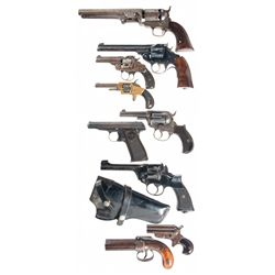 Nine Hand Guns -A) Metropolitan Arms Navy Model Percussion Revolver