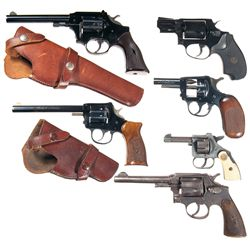 Five Double Action Revolvers and One Starter Pistol -A) High Standard Aluminum Frame Sentinel R-103