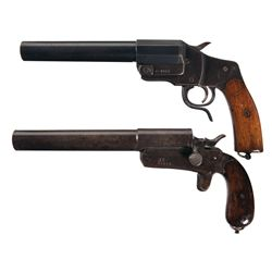 Two WWI Flare Guns -A) Hebel Model 1894 Flare Gun