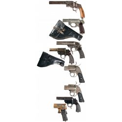 Eight Flare Pistols -A) German Hebel Model 1894 Flare Pistol